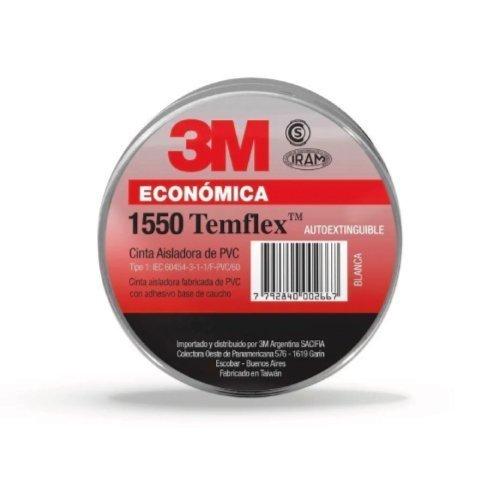 CINTA AISLADORA 3M TEMFLEX 10 MTS