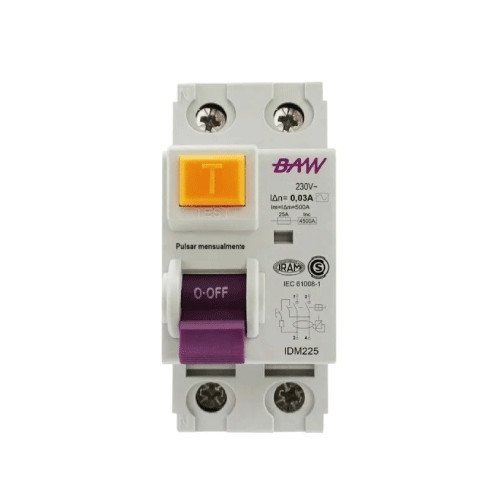 INTERRUPTOR DIFERENCIAL 2 X 40 AMP.30MA BAW