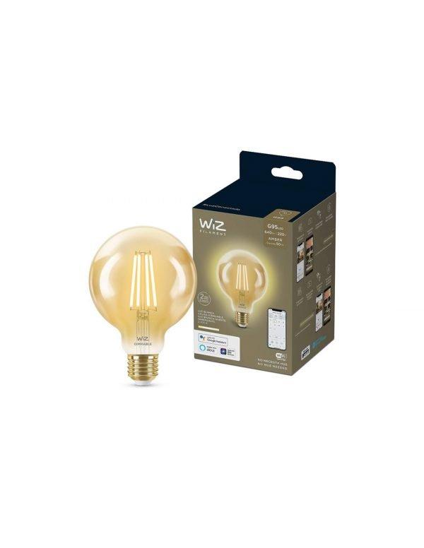 """LAMP.LED DIM 6.9W """"WI-FI"""" G95 WIZ PHILIPS"""